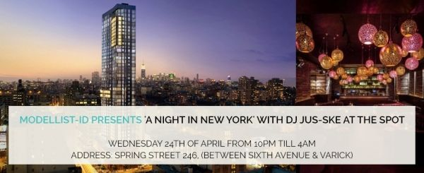 Just 1 day left before our Modellist-ID event in the Spot / Trump Soho hotel NYC!