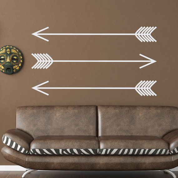 Arrow Wall Decal Vinyl Stickers Set Of Three Arrows Native American Tribal Wall Decals Minimalist Art Boho Bedroom Modern Home Decor  Approximate