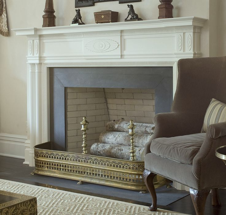 honed absolute black granite fireplace surround