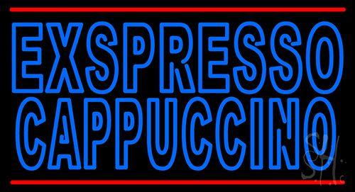 Double Stroke Espresso Cappuccino Neon Sign