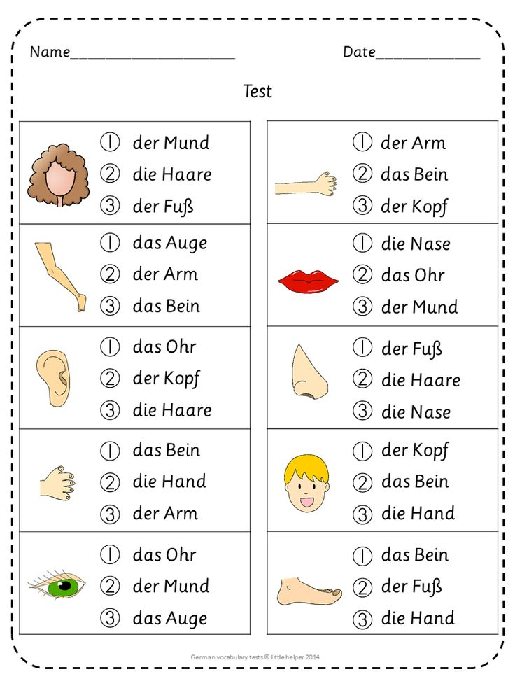 German vocabulary tests and wordsearch puzzles galore.
