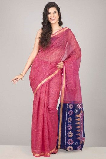 Geometric Galore: Silk Cotton Pochampally Sarees - Home Page Display