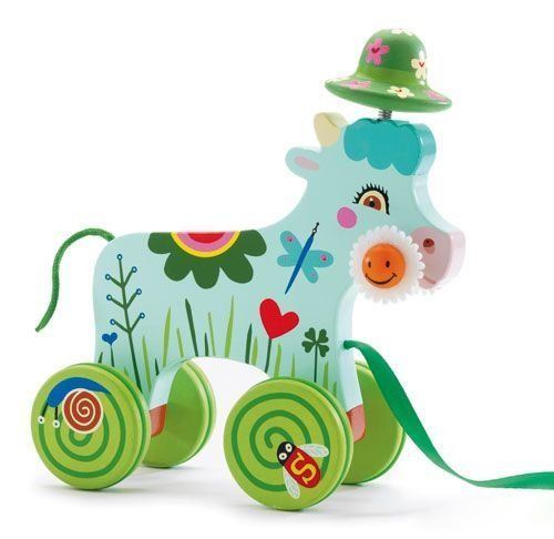 Amazon.com: DJECO 'Smily' Pull along Cow by Djeco: Toys & Games