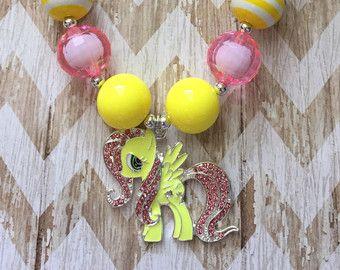 Chicle morado collar collar de chicles de por MiaBowtiqueShop