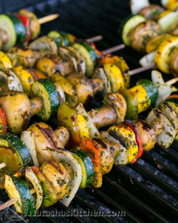Moroccan Vegetables Skewers from @NatashasKitchen