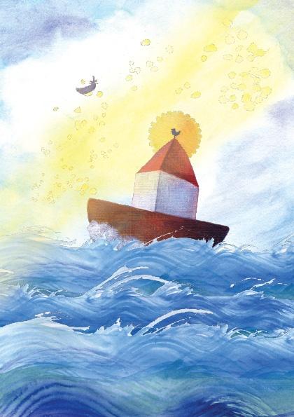 Card commissioned for an Island / Kaart in opdracht voor Ameland... 'Zus en ik illustraties'