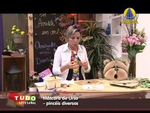 Tudo Artesanal | Máscara de Urso por Diná Rocha - 09 de Fevereiro de 2013