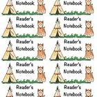 Camping Themed Reader's Notebook Journal Labels