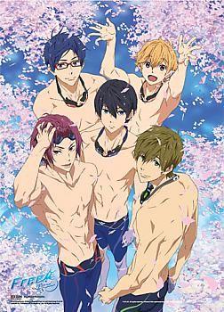 Free! Fabric Poster - Group Sakura Pool