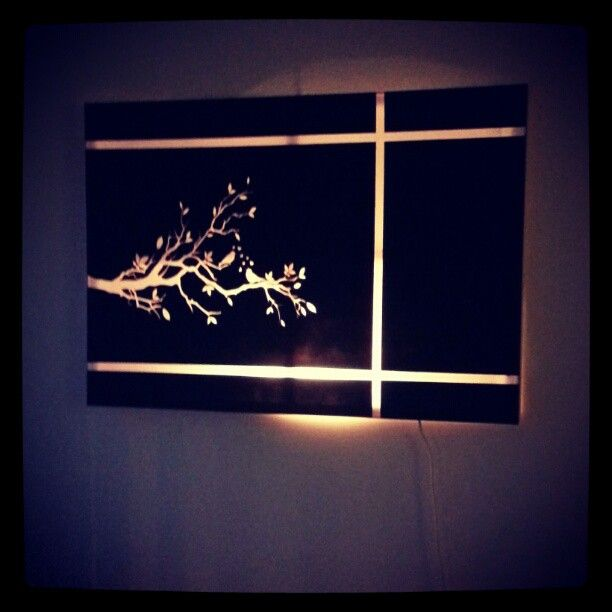 Cute canvas light project