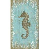 Vintage Seahorse Facing Left Sign