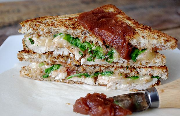 Turkey, Apple Butter and Arugula Grilled Cheese from Nutritionist in the Kitch