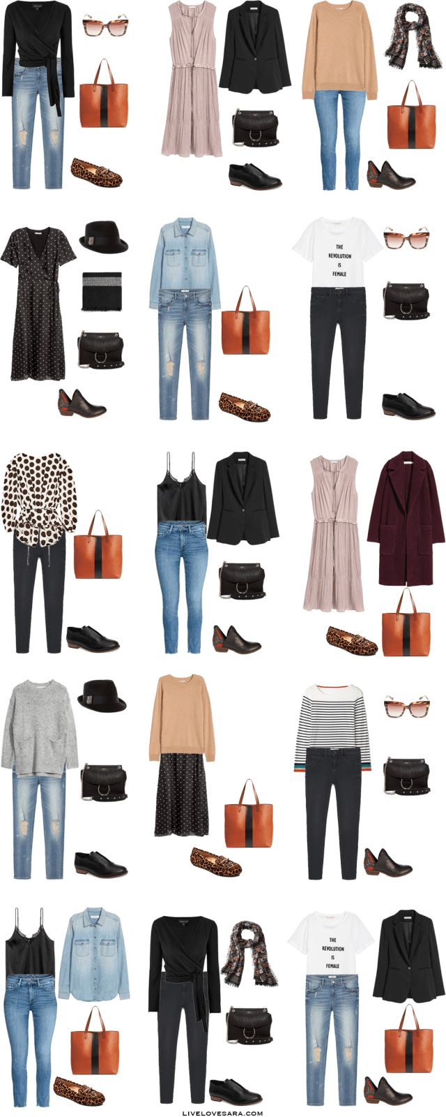 Packing List: 3 weeks in Bruges, Belgium in Autumn. What to Wear: Outfit Options 1 - livelovesara
