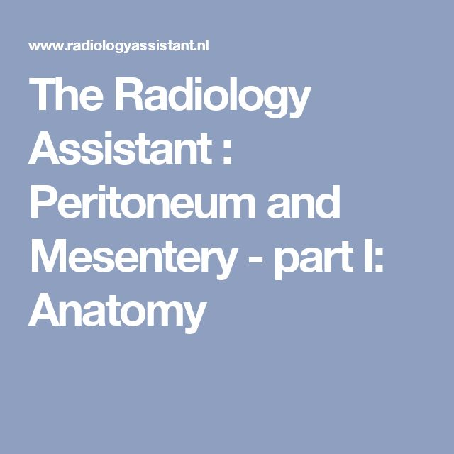 The Radiology Assistant : Peritoneum and Mesentery - part I: Anatomy