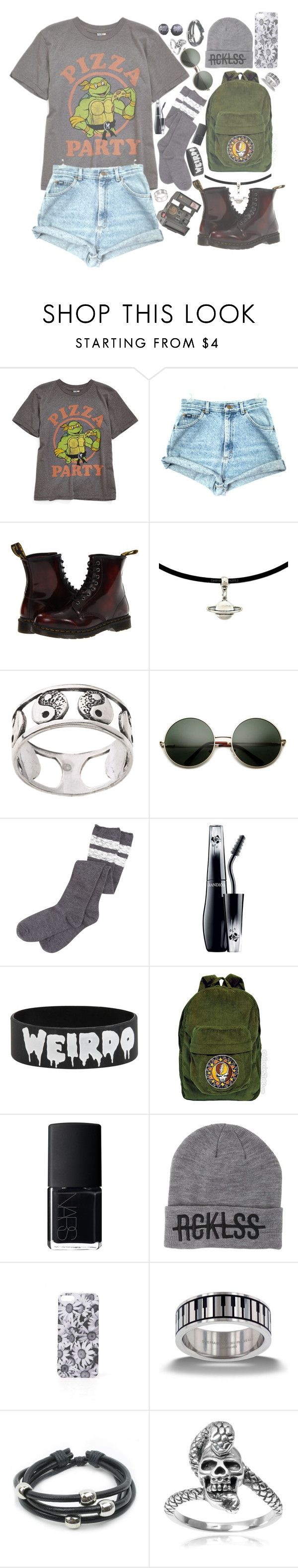 """""""Untitled #206"""" by xambergurlx ❤ liked on Polyvore featuring Junk Food Clothing, Dr. Martens, Polaroid, Carolina Glamour Collection, Lancôme, NARS Cosmetics, Young & Reckless, With Love From CA and Tressa"""