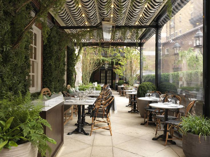 The Dalloway Terrace - striped awning