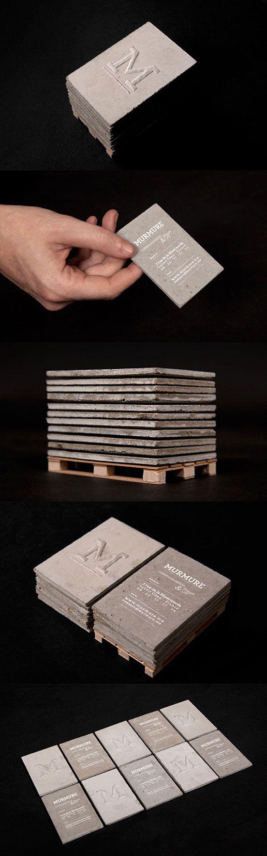 Concrete Business Card | Business Cards | The Design Inspiration