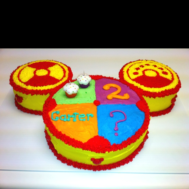 Carter's 2nd Birthday...Mickey Mouse Toodles Cake