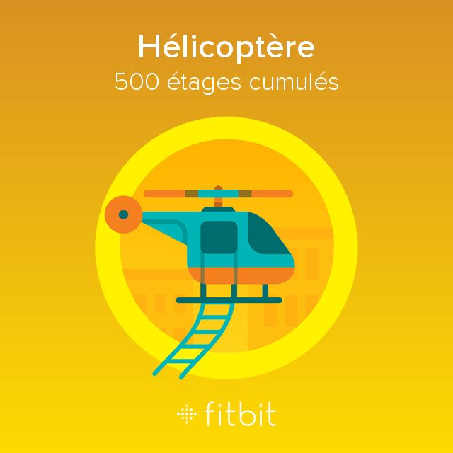 I climbed 500 floors with my #Fitbit and earned the Hélicoptère badge.