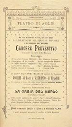 Locandina di uno spettacolo del 9 agosto 1902