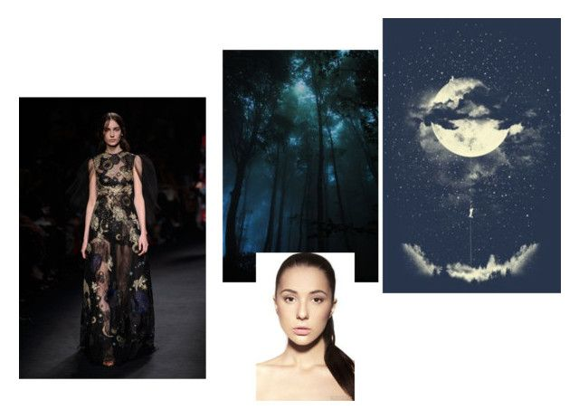 """""""magic forest girl collage1"""" by nevanevazhno on Polyvore featuring мода"""