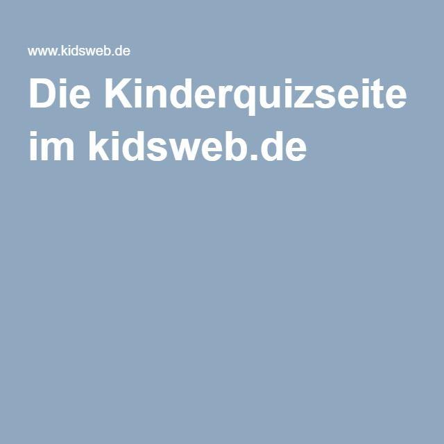 Die Kinderquizseite im kidsweb.de