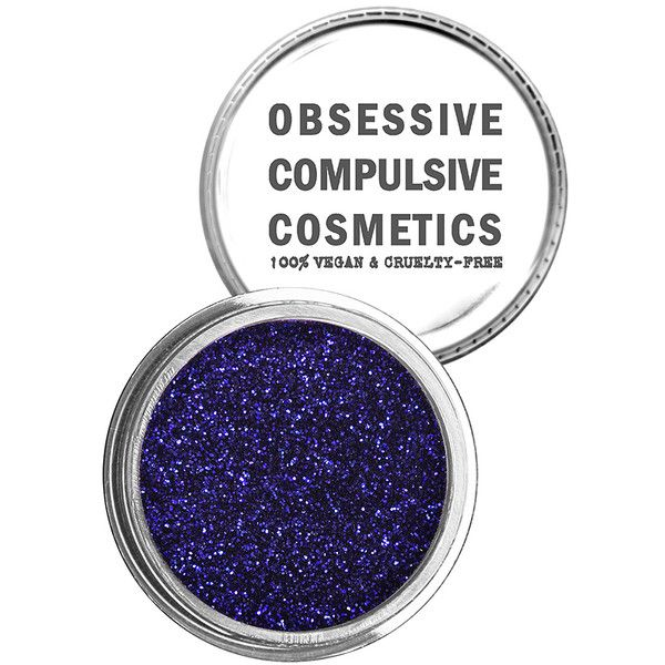 Obsessive Compulsive Cosmetics Cosmetic Glitter ($15) ❤ liked on Polyvore featuring beauty products, makeup, beauty, mineral makeup, paraben free cosmetics, paraben free makeup and mineral cosmetics