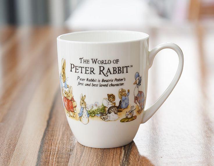 350 мл прекрасный белый кролик питер кружка кофе керамическая чашка молока завтрак на день рождения Drinkware принадлежности подарок RY1521