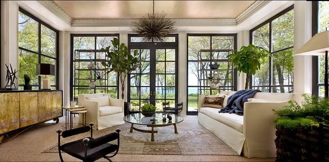 Windows: Black Window, Idea, Sunrooms, Living Rooms Window, Interiors Design, Ceilings Design, Outdoor Spaces, Kara Man, Sun Rooms
