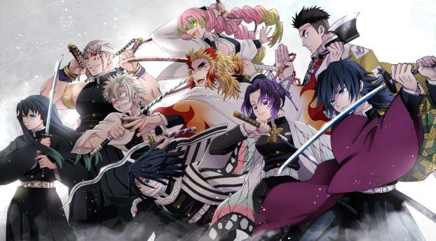 Demon Slayer Kimetsu No Yaiba Team Wallpaper Hd Anime 4k Wallpapers Images Photos And Background Wallpapers Den In 2021 Anime Cool Anime Wallpapers Hd Anime Wallpapers