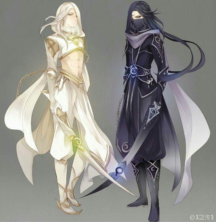 Yin yang assassins, black white.