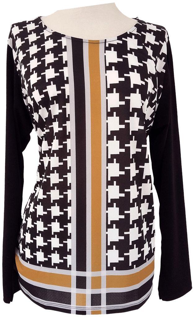 Camiseta estampada con formas geométricas. Tallas desde la L hasta la XXXL
