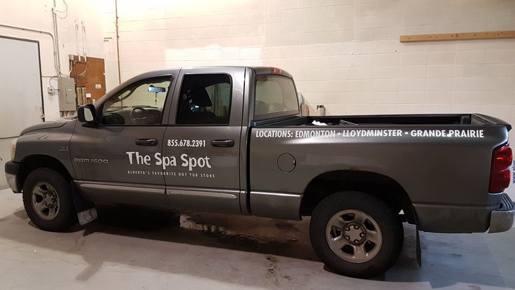 This new truck decal for The Spa Spot completed by Speedpro Imaging Edmonton! Call them today to get your business noticed!