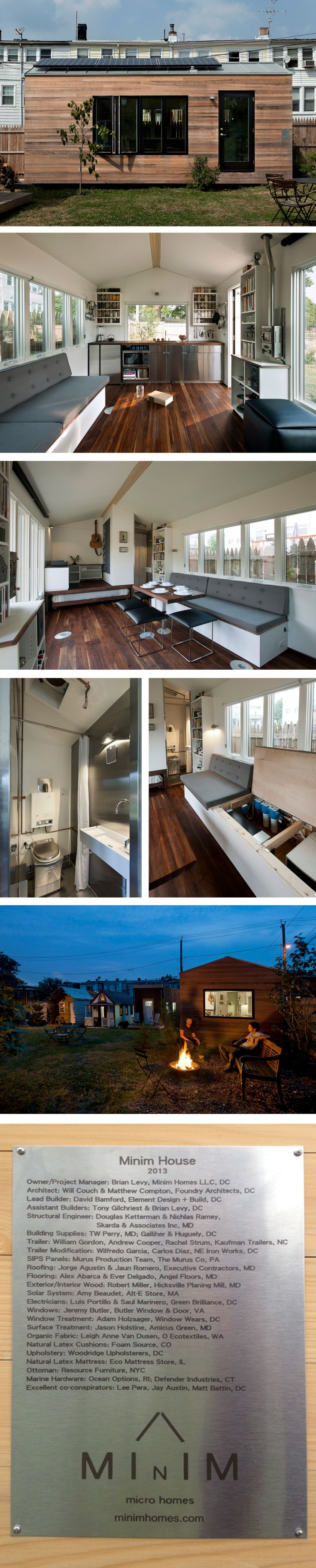 Tiny# House - Minim House. Like the pullout bed area-but not bathroom if shower over toilet...