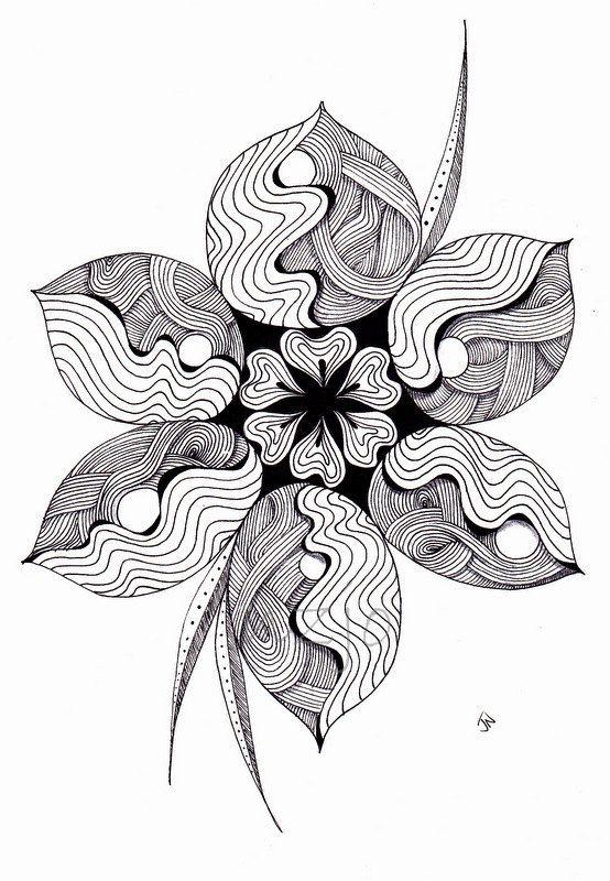 original art Mandala hand drawn by nzjo on Etsy