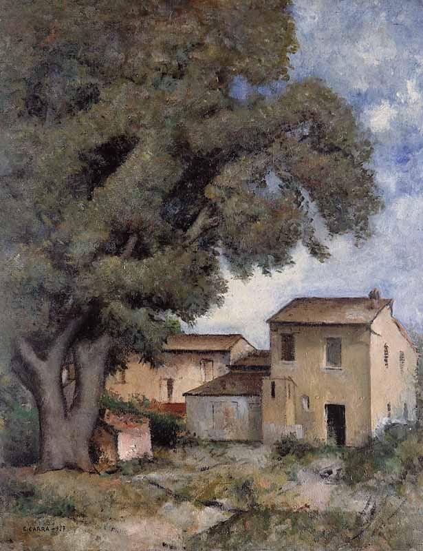 Il Museo Immaginario: CARLO CARRA'. UNA CASA. UN ALBERO.