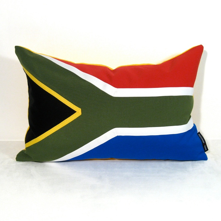 South Africa Flag Pillow Cover Outdoor Cushion by Mazizmuse