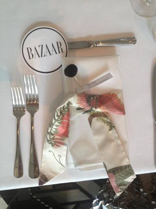 How exciting, It's my Quoll design from Sparkk at Fashion Weeks Harpers Bazaar dinner! Styling & photography by Megan Morton. Fabric production by Sparkk, Australia.  Quoll Australiana design in Neutral printed on to silk.
