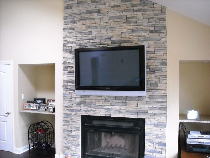 Stone fireplaces and Stone veneer fireplace