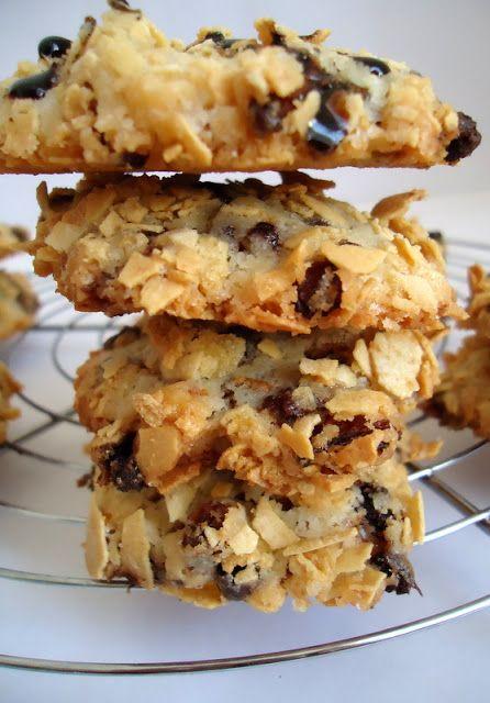 Aux délices des gourmets: COOKIES AUX CORN FLAKES ET PÉPITES DE CHOCOLAT