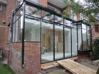 Uitbouw staal en glas google zoeken serres en aanbouw for Glazen uitbouw