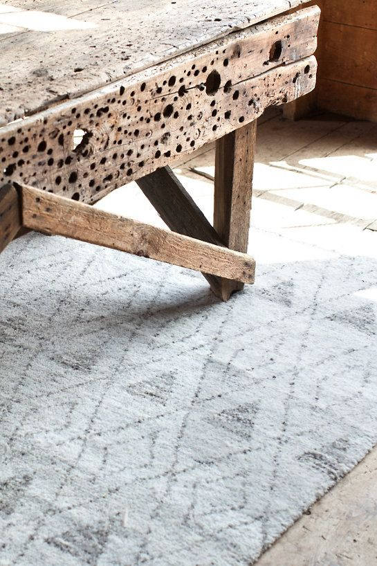 Dash & Albert Masinissa Hand Knotted Rug  If you've been looking for a lush, plush, treat for the feet, try our new Moroccan-inspired woven wool area rugs! Soft and dense with a subtle geometric pattern, these rugs are made for maximum comfort.