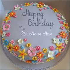 Girls Name On Happy Birthday Cake Picture Online.Happy Birthday Cake Pix With Your Custom Text.Birthday Cake Photo With Girls Name Online For Free