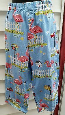 "Nick & Nora ""Flamingos & Mailboxes""  PJ Bottoms - SZ Small Tropical"