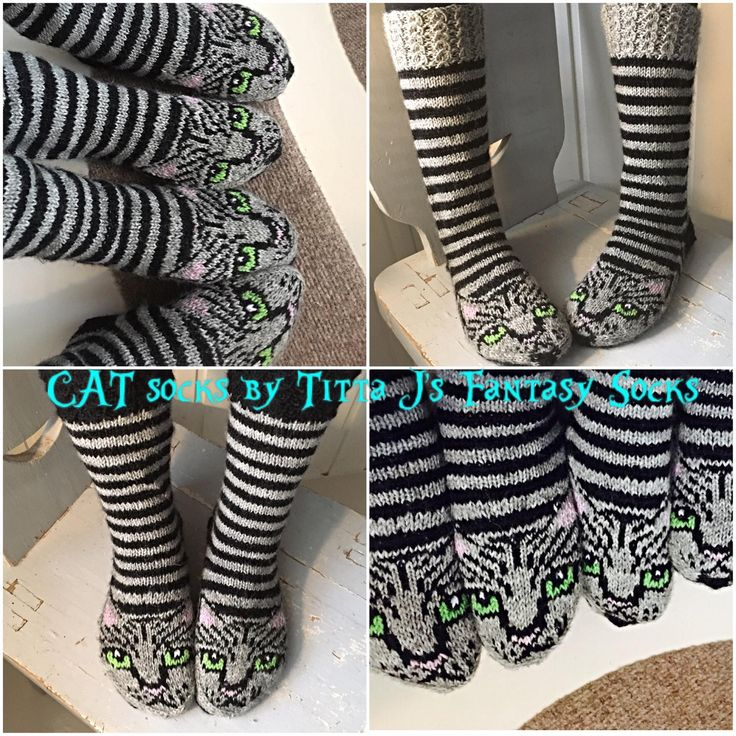 Cat Socks by Titta J's Fantasy Socks