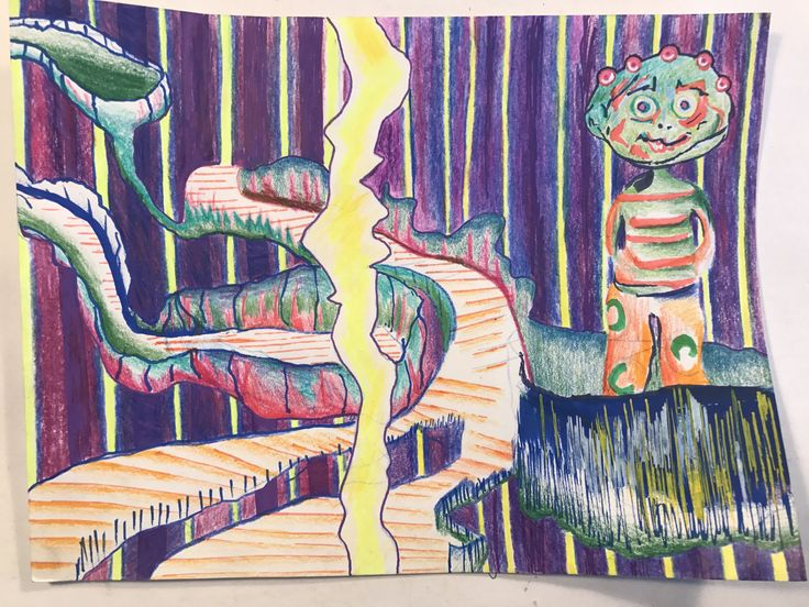 Marker and colour pencil on paper, 2017, A4