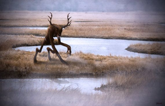 The Wendigo Painting Photo Manipulation by MythicArticulations