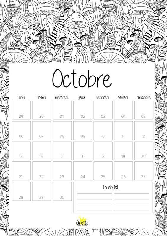 Calendriers mensuels : octobre 2014 (à imprimer - gratuit) …