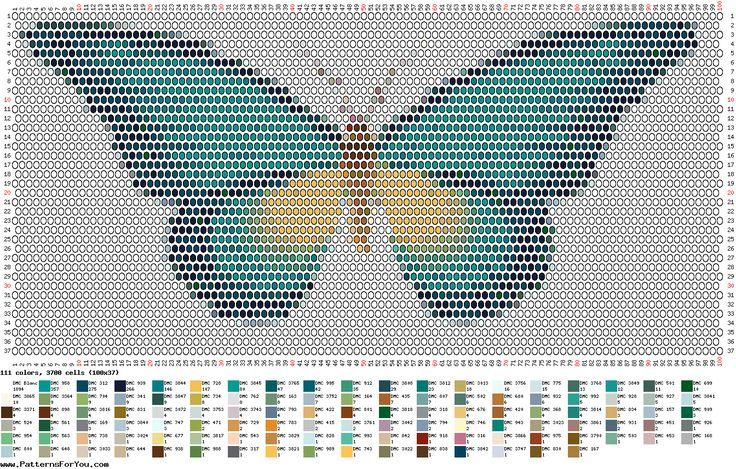 butterfly cross stich pattern
