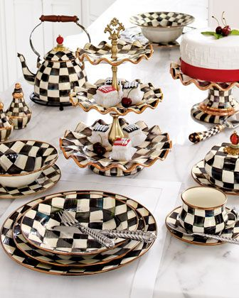 Courtly Check Dinnerware by MacKenzie-Childs at Horchow. Makes me want to have a fancy lunch party!